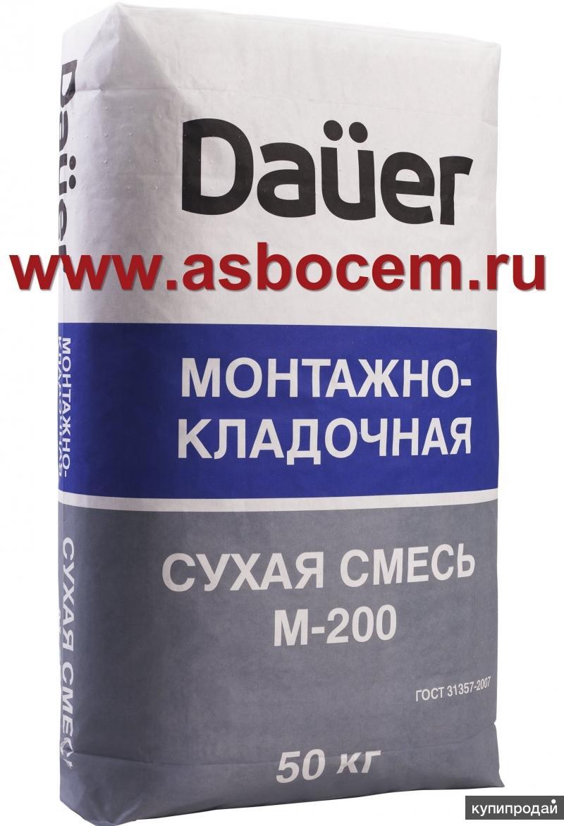 """Сухая смесь монтажно-кладочная М-200 """"DAUER"""" (Дауэр). Мешок 50 кг."""