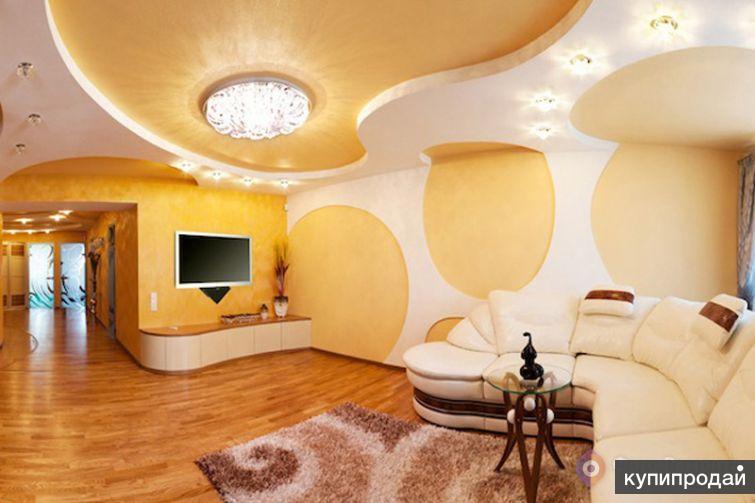 Монтаж потолка Амстронг, ГКЛ. Укладка ламината,