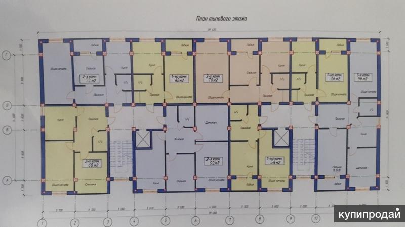 1-к квартира, 48 м², 7/7 эт.