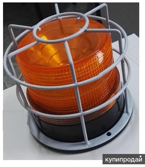 лампы сигнальные маячок (мигалка оранжевая) проблесковая питание 220в