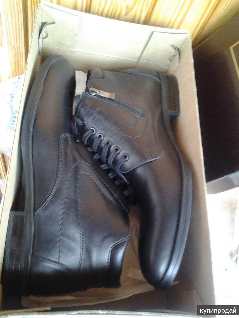 Новые зимние ботинки из натуральной кожи