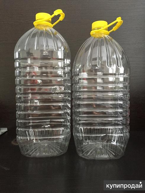 Производим и продаём ПЭТ бутылку ёмкостью 5л, 4.5л