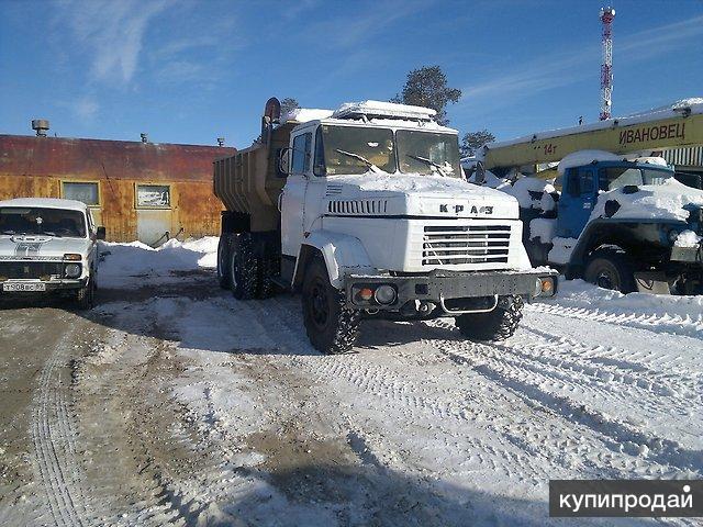 Доставка сыпучих грузов автомобилем КРАЗ. Объем - 15 кубов