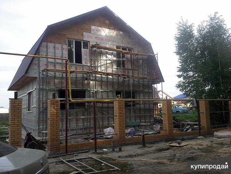Утепление фасада частного дома в Пензе, фасадные услуги