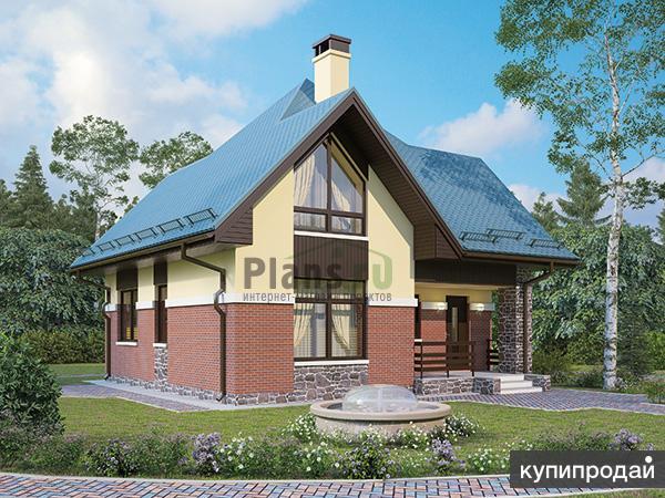 Проект каркасного дома 8,4x8,4 с мансардой
