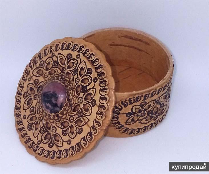Шкатулки ручной работы с натуральным камнем