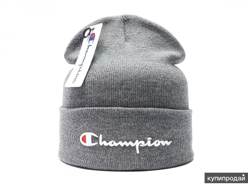 Шапка Champion (flap) серый