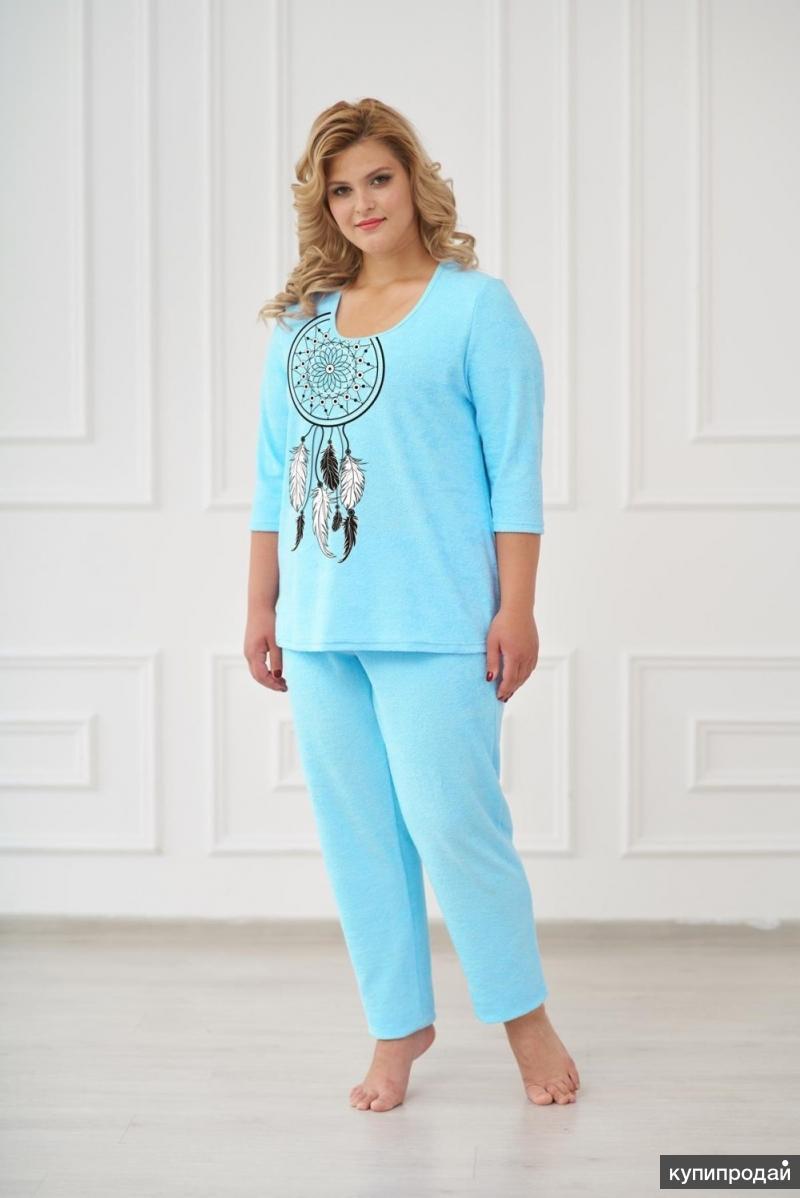 Пижама махровая Вита (бирюзовая)