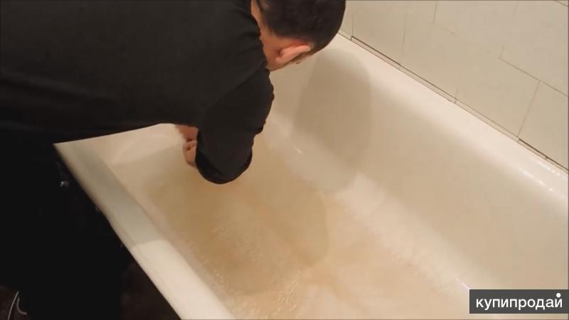 Реставрация ванн и раковин жидким наливным акрилом