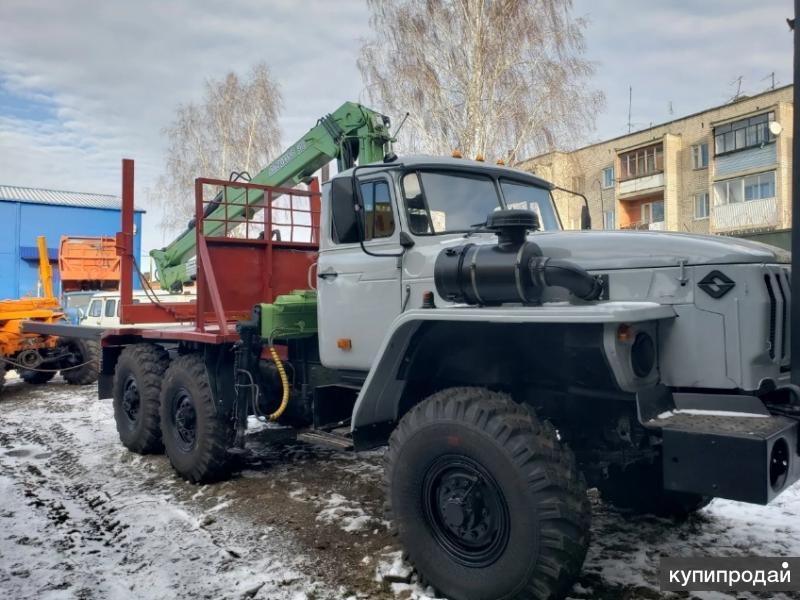 Урал 4320 Лесовоз прицеп роспуск