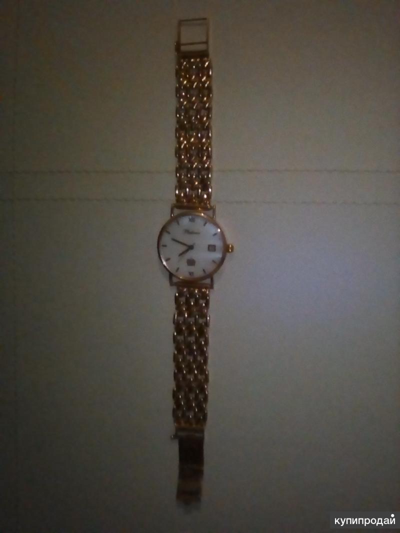 Золотые часы фирмы Ника