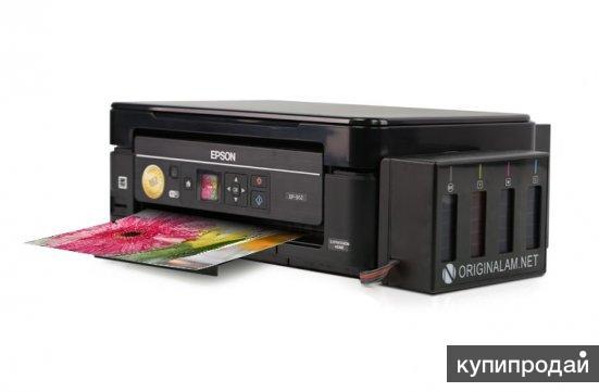 Цветной принтер МФУ Epson XP-352 с БСНПЧ и чернилами. Гарантия.
