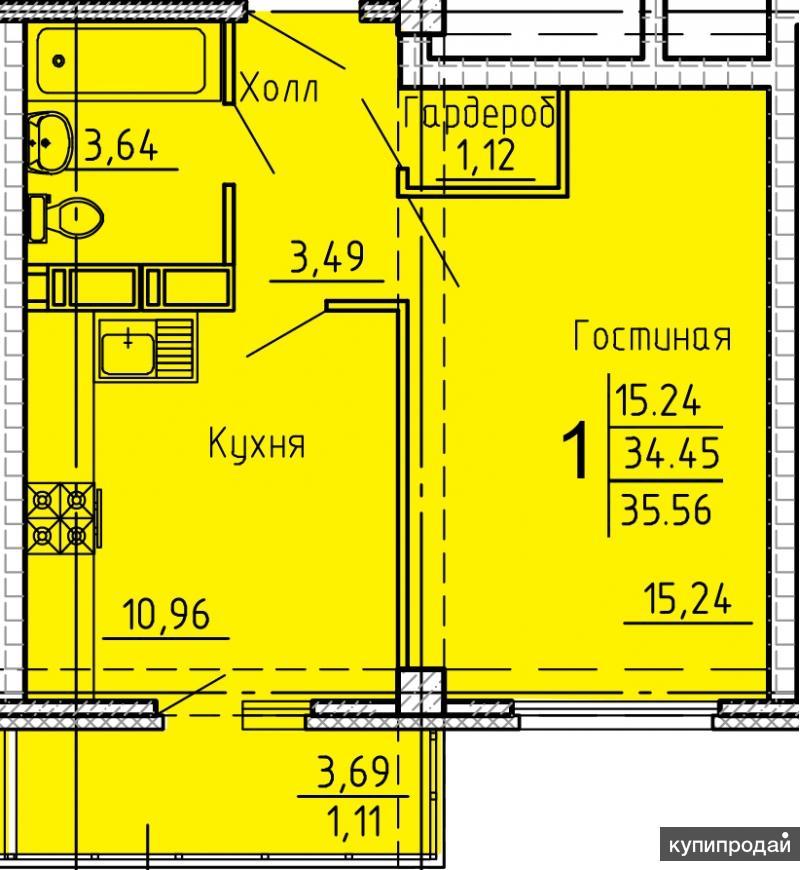Продается 1 комн. квартира по ул.Генерала Глазунова