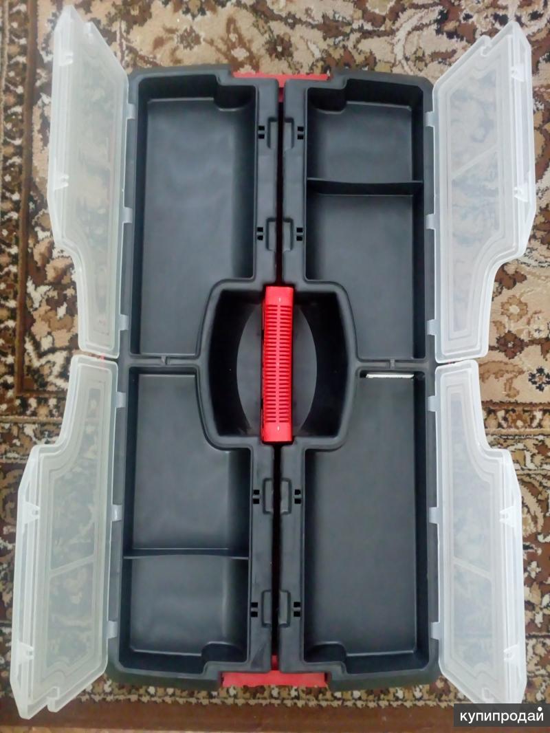 Ящик для инструментов с органайзером на колесах