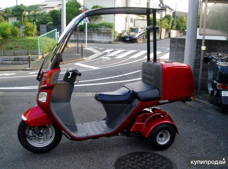 Скутер трайк Honda Gyro Canopy Новый двухместный с крышей грузовой кофр